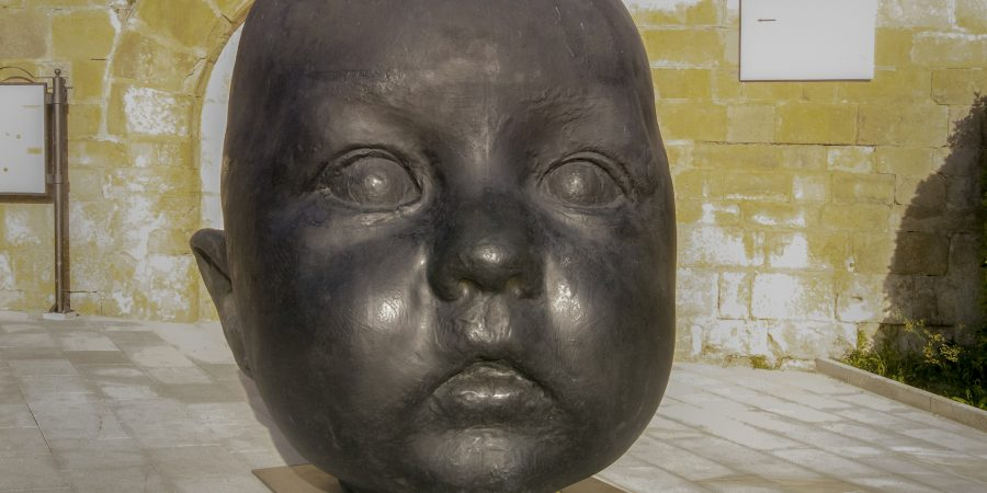 Baby Head sculpture by Antonio López García