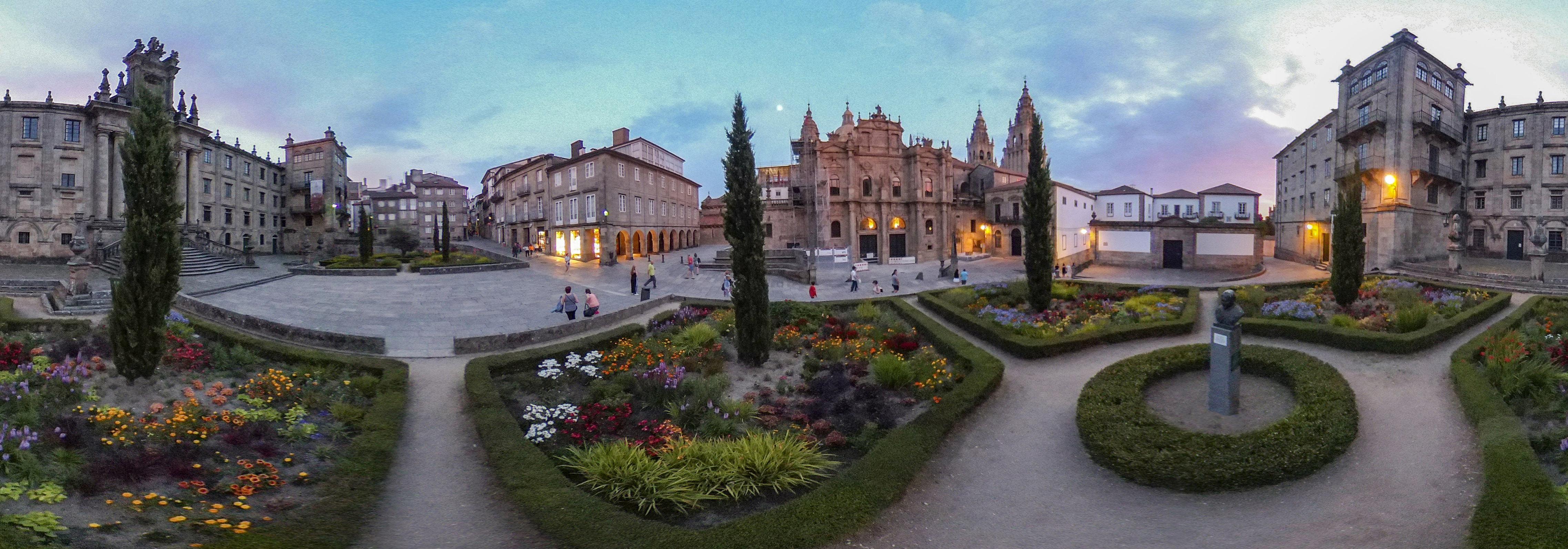The Plaza de la Inmaculada in Santiago de Compostela