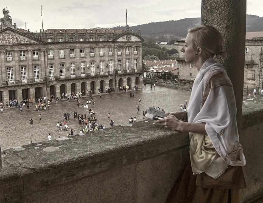 Looking over the Plaza del Obradoiro