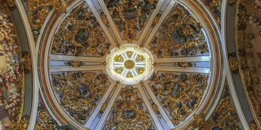 Ornate ceiling, Burgos Cathedral