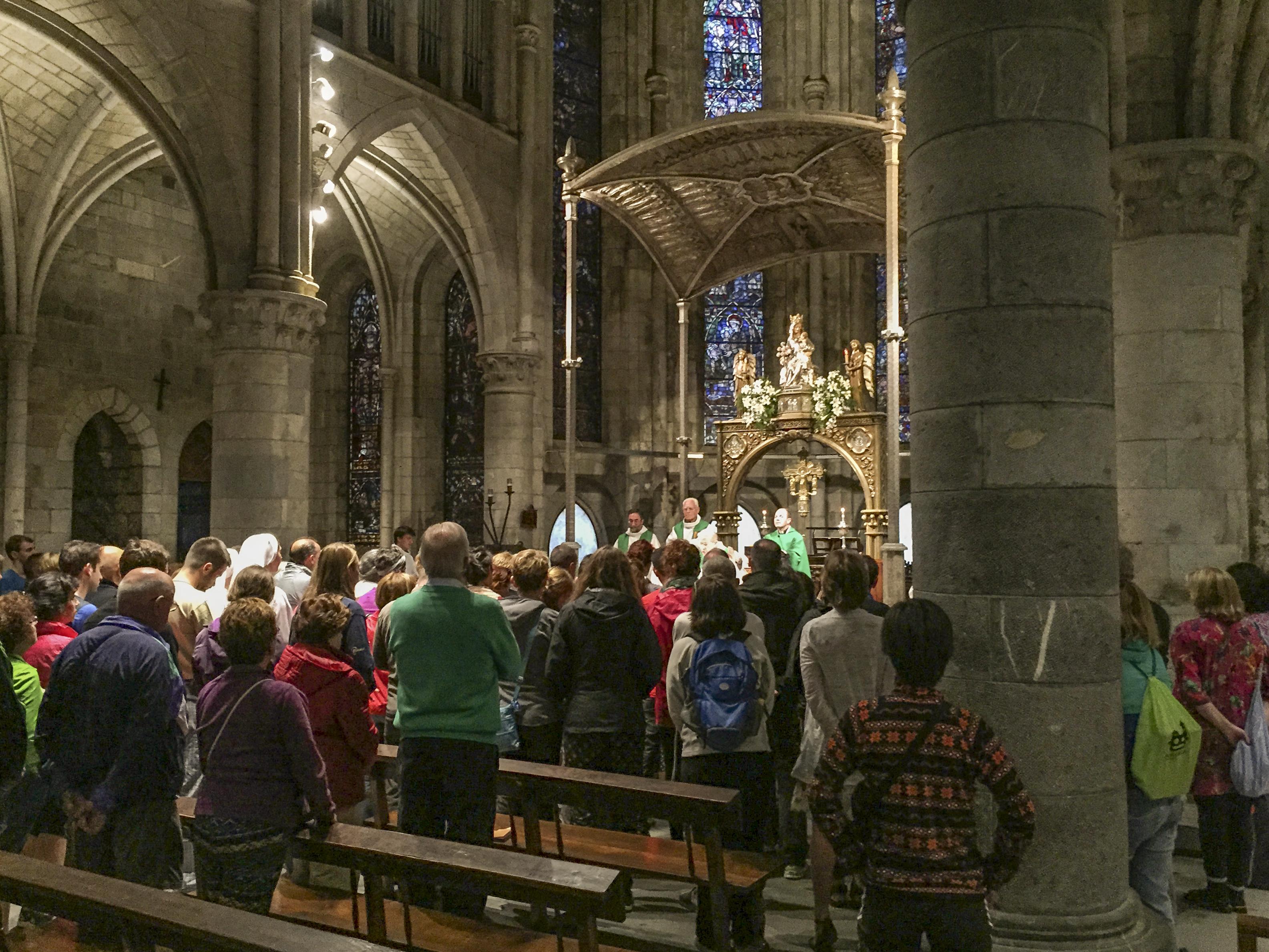 Pilgrim's Blessing Mass in Roncesvalles