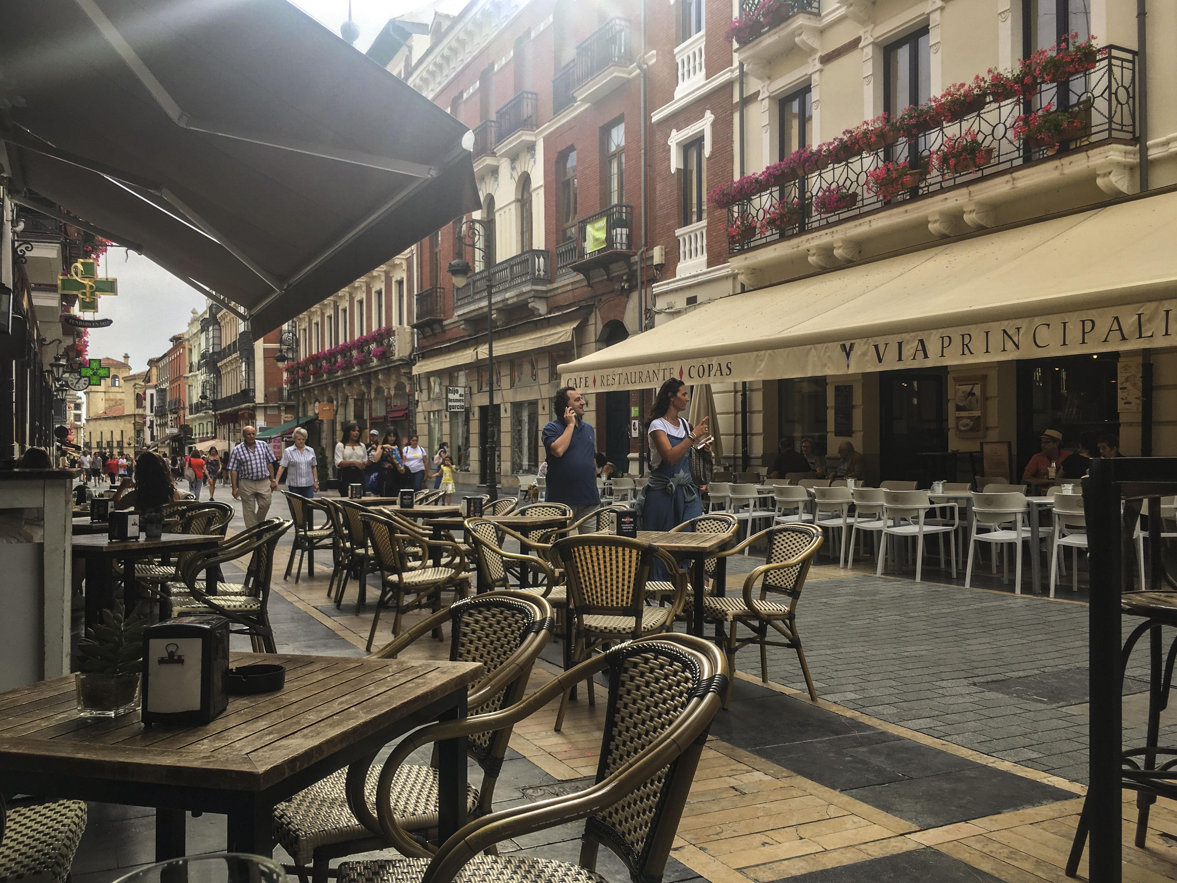 Street scene in León